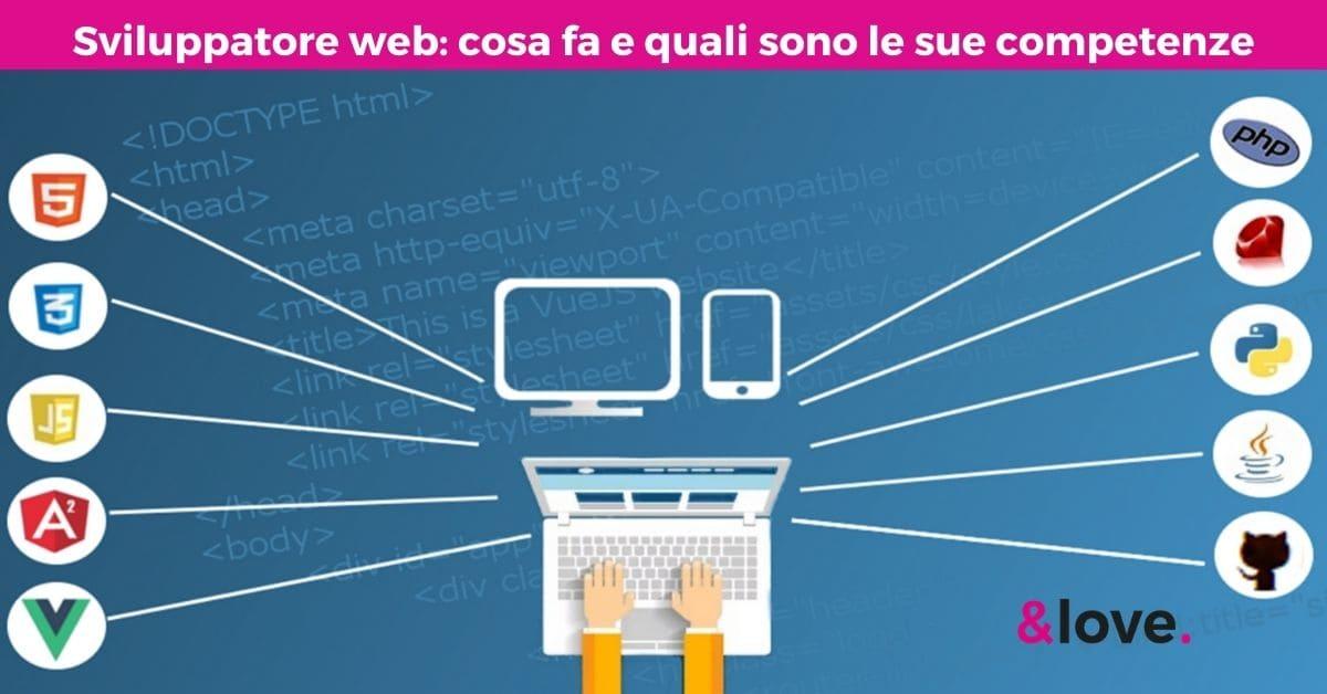 sviluppatore web che cosa fa competenze e costi